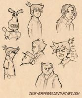 Medabots Sketch dump 02 by Duck-Empress