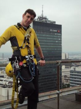 Me on Portland tower roof by wogsy