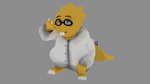 Alphys V.2 (Bad) Render by TheAntitoxic