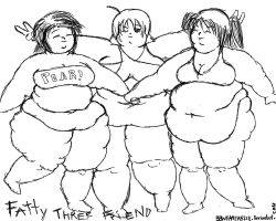 Fatty 3 friend by TheBellyBloomIsland