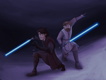 Anakin and Obiwan by solarseptum