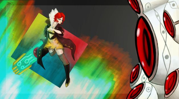 Red Transistor by miraiart