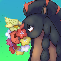 Comfey and Mudsdale