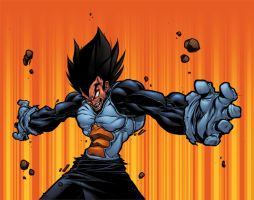 tus's vegeta colored by shalomone