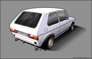 golf mk1 toon by RibaDesign