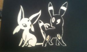 Umbreon and Espeon Carve Out by SkylarBinaBrians