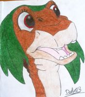 110 Littlefoot disguising for carneval! :D (colour by TheEvilHadrosaur