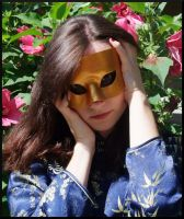 Simple Gold Masquerade Modeled by Jedi-With-Wings