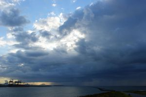 rain is arriving at the coast by picture-melanie