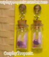 Fairy earrings purple by CosplayPropsEtc