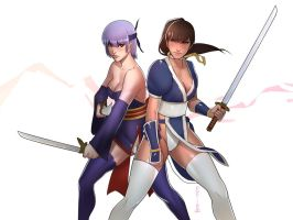 Kasumi and Ayane by pop-lee