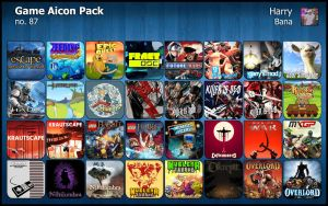 Game Aicon Pack 87 by HarryBana