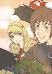 Astrid and Hiccup by Nuskineta
