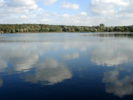 clouds reflection by Mortifiera
