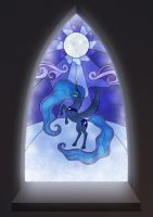 Princess Luna stained-glass by Oracle-Sphinx