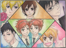 Ouran High School Host Club by JackieWest