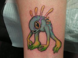 Baby Murloc Tattoo by barbra