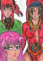 Athena, Ramtrah and Isis (Oc) by hellmira