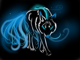 Glow Wolf adopt Make an offer -end- by Naeezadopts