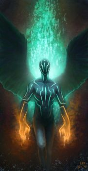 Tron Angel by lancer-idenoure