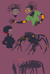 oldish spider people concepts by SulphurSpoon
