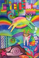 Rainbow city by karincharlotte