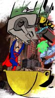 superman and metallo by hugeackman