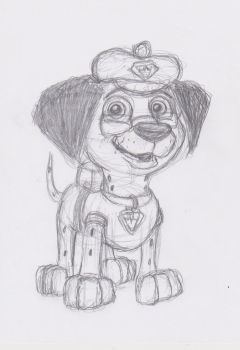 Me as Electronic Pup of Paw Patrol by JamesTheDalmatian