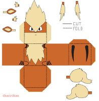 Arcanine Papercraft by CharrChan