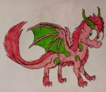 The Daily Sketch #7: Pink Draggie by DragonDrawer102