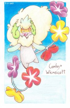 Whimsicott + Comfey pokefusion! by Sh0ckwavve