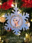 Snow Queen Snowflake Christmas Tree Ornament by ArteDiAmore