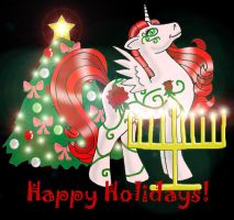 MLP Happy Holidays by marienoire