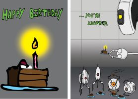 Happy BDay luv GLaDOS by Evil-is-Relative