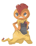 Pokemon Sketch Request - Scrafty by TheSplashingMAGIKARP