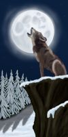 Haiku L1: Wolf Crying in Dark by Art-Gecko
