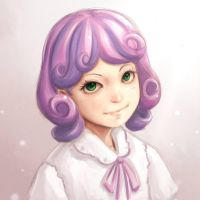Sweetie Belle Pencil and Color by NinjaHam