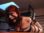 FlayGirl Restrained by ropemarks