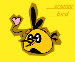 Orange bird terminado by mina-miku
