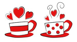 Valentine Coffee Cups by shuallyo