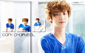 Chanyeol Faceshop Wallpaper by KpopGurl