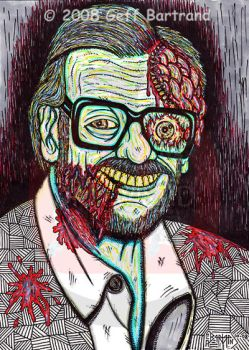 George Romero Zombified by Dr-Twistid