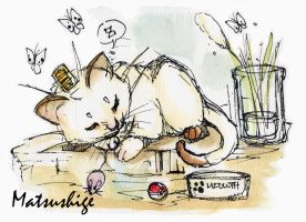 Meowth Nap by PokeShoppe