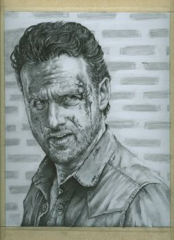 rick grimes WIP # 5 by jeanfverreault