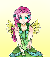 Fluttershy at the Gala by Meli-Melon