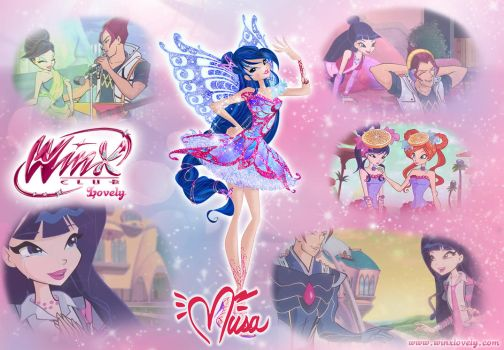 Winx Club wallpaper: Musa Butterflix and Riven by WinxLovely