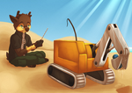 Cleaning The Beach by Lazy-a-Ile
