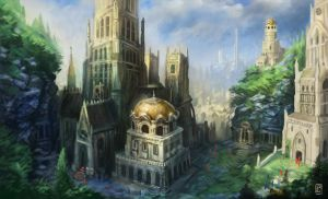 Cathedral Town by LyntonLevengood