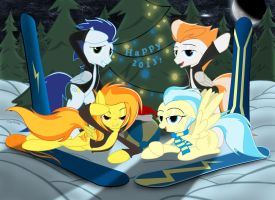 Happy new year from the Wonderbolts! by Spitshy