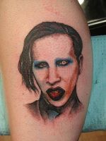 Marilyn Manson tattoo by Tat2ood-Monster
